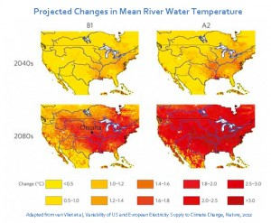 Projected Mean Water Temp Changes