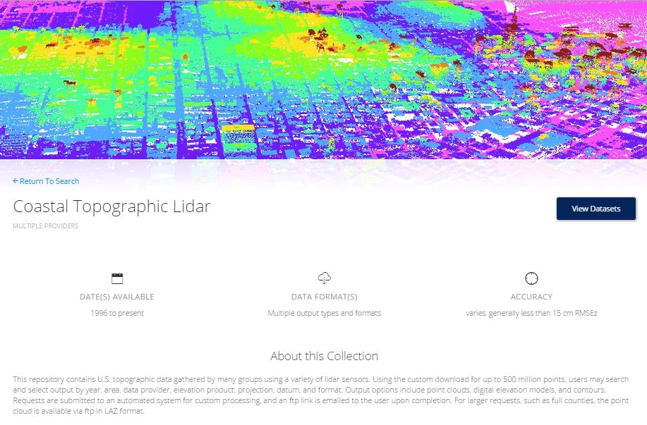 Coastal Lidar - Conservation in a Changing Climate