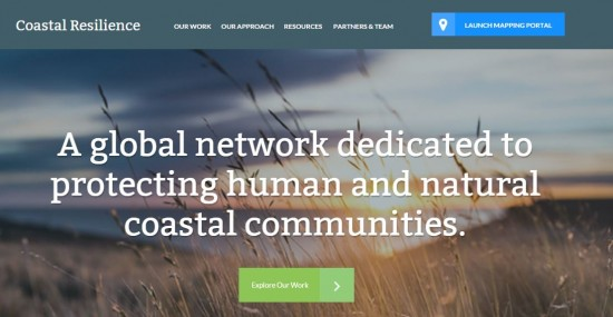 Screenshot of The Nature Conservancy's Coastal Resilience webpage.