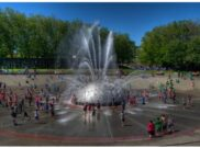 People have been flocking to the International Fountain at Seattle Center for decades. Alas, it's closed until early July for repairs. Water features, like fountains, are one method of cooling urban environments as temperatures rise. (Credit: rwoan, Creative Commons)